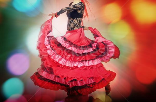 Flamenko kadın dans disko aydınlatma kız Stok fotoğraf © Novic