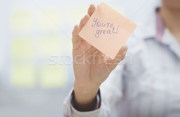 You are great Stock photo © Novic