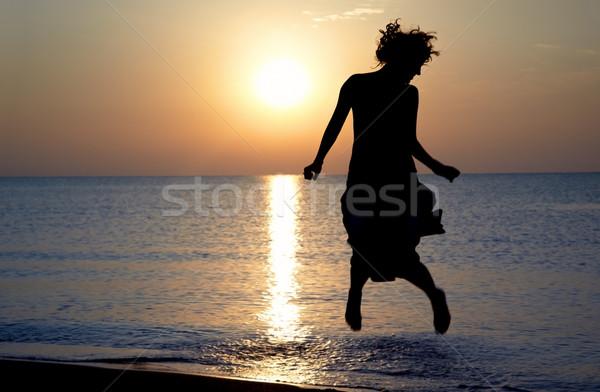 Happy sunset Stock photo © Novic