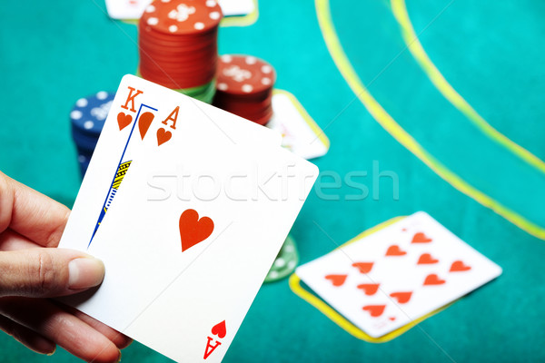 Poker in casino Stock photo © Novic