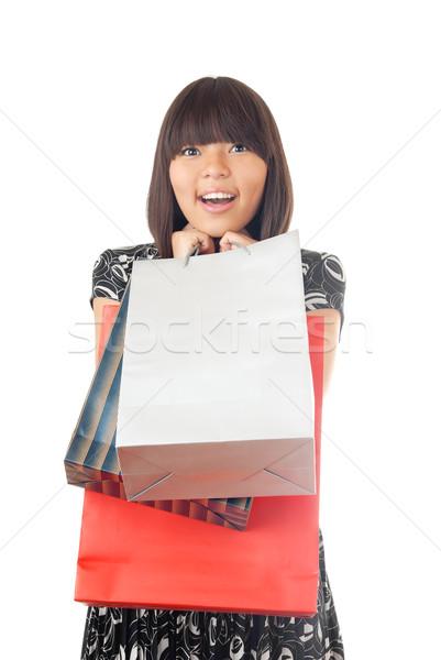 I love shopping of gifts Stock photo © Novic