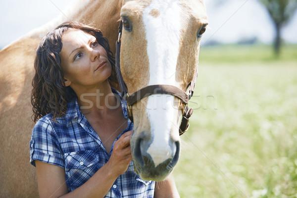 女性 馬 一緒に 愛 女性 人 ストックフォト © Novic