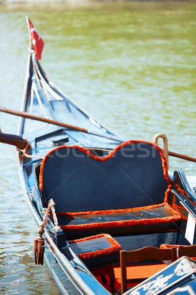 Gondel rivier istanbul Turkije verticaal foto Stockfoto © Novic