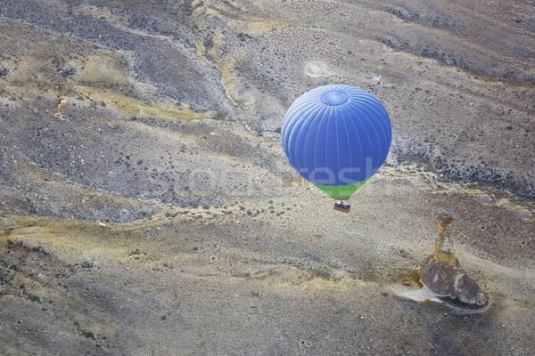 Vliegen boven grond horizontaal foto Stockfoto © Novic