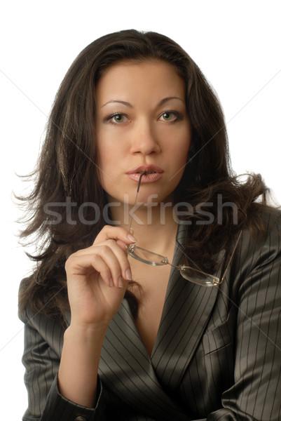 Thoughtful business lady Stock photo © Novic