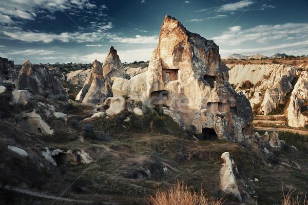 Ancient stone houses of Cappadocia Stock photo © Novic