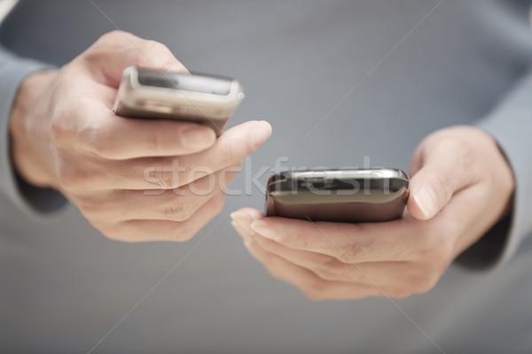 Two smartphones Stock photo © Novic