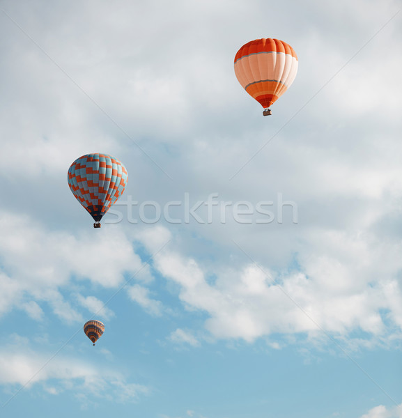 Air balloons in blue sky Stock photo © Novic