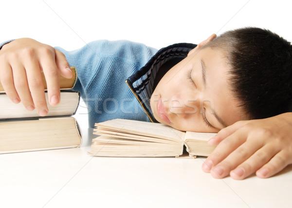 Sleeping after reading Stock photo © Novic