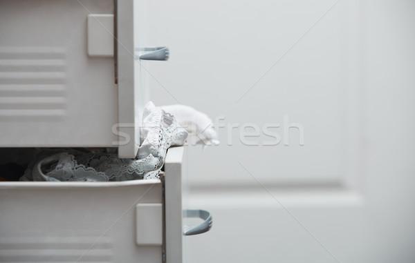 Rommelig kleding garderobe horizontaal foto abstract Stockfoto © Novic
