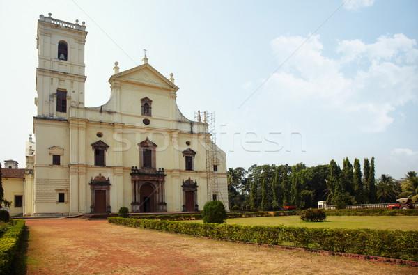 Oude kerk goa oude kathedraal middeleeuwse Stockfoto © Novic