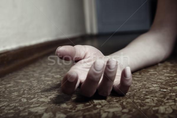 Kéz közelkép fotó emberi kéz fektet padló Stock fotó © Novic