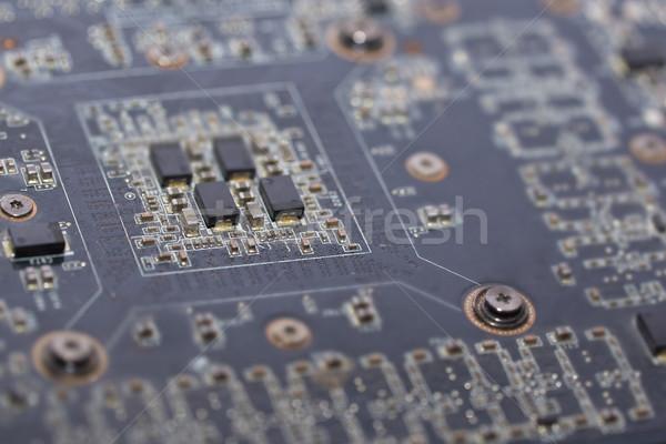 Alaplap közelkép kilátás számítógép vízszintes fotó Stock fotó © Novic