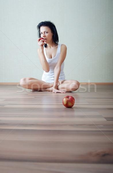 Stock photo: Eat apple