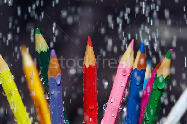 Renk kalemler yağmur görmek kalem Stok fotoğraf © Novic