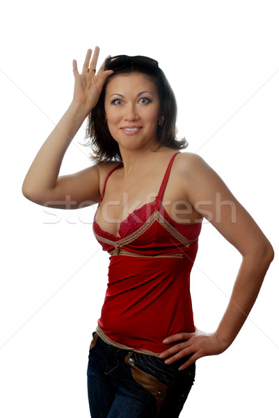 Surprised woman Stock photo © Novic