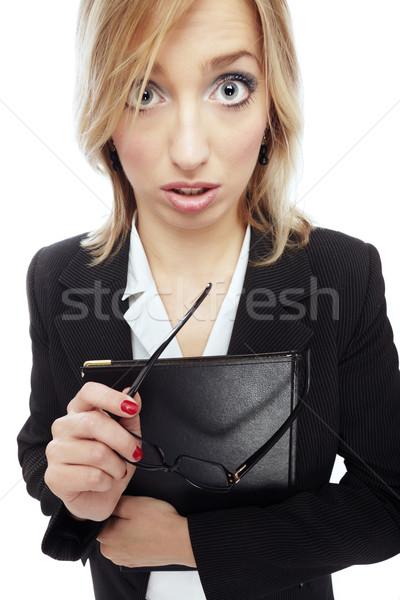 Crazy businesswoman Stock photo © Novic