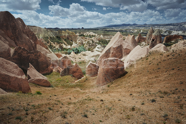 岩 トルコ 水平な 写真 風景 美 ストックフォト © Novic