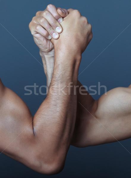 Arm worstelen twee handen hand man studio Stockfoto © Novic