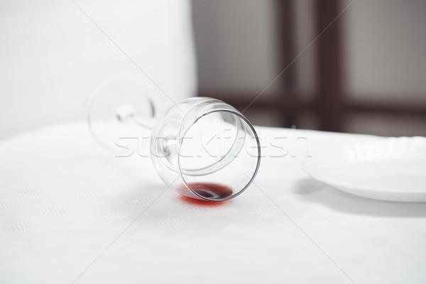Fallen wineglass Stock photo © Novic