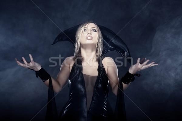 Сток-фото: ведьмой · фото · женщины · дым