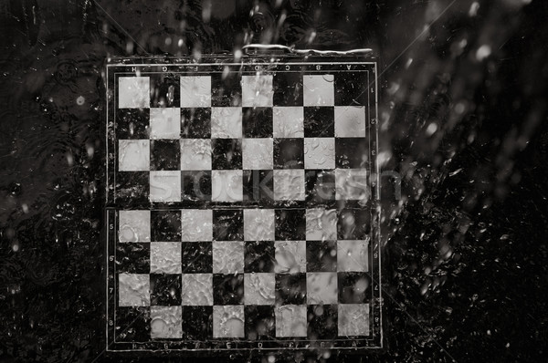 Chessboard under the rain Stock photo © Novic