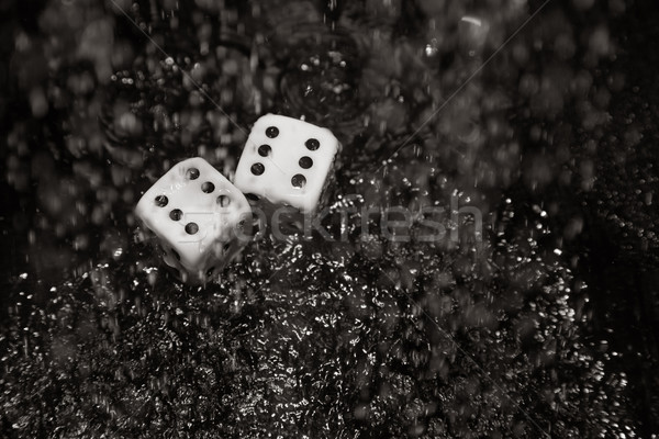 Gambling dices under the rain Stock photo © Novic