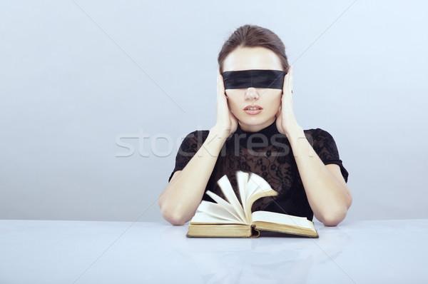 De audio libro dama mujer educación Foto stock © Novic