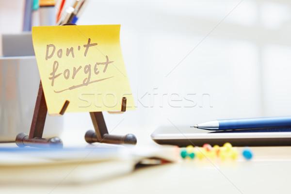 Değil metin yapışkan dikkat ofis iş Stok fotoğraf © Novic