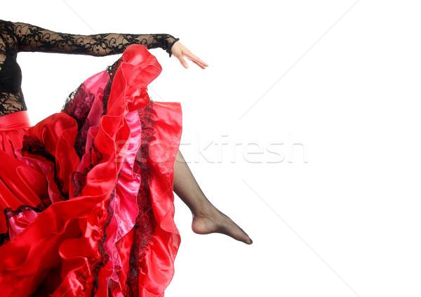 Flamenko poz fotoğraf bacak kol dansçı Stok fotoğraf © Novic