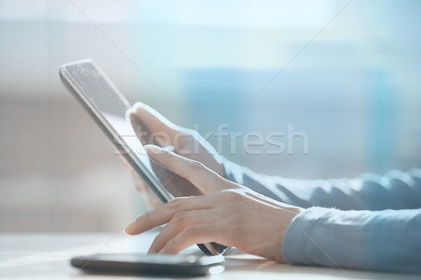 Working with digital tablet Stock photo © Novic