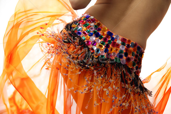 Orange belly dancer Stock photo © Novic