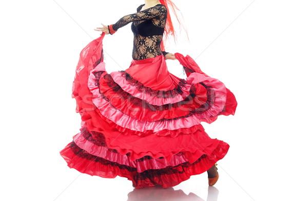 Flamenco nő piros tánc művészet női Stock fotó © Novic
