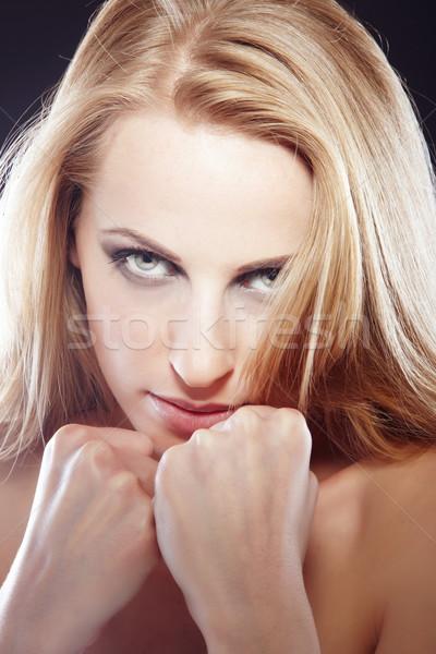 Feminismus schönen Dame Symbol Frau Mädchen Stock foto © Novic