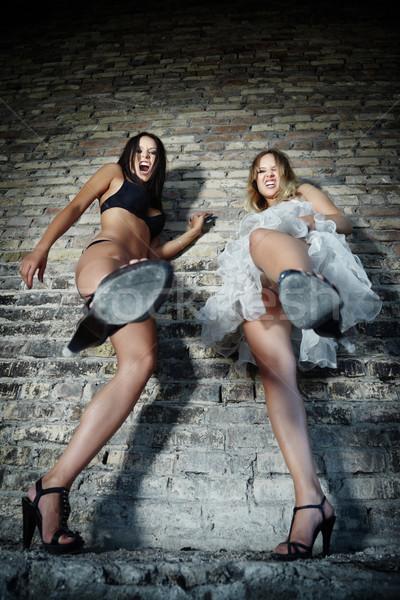 два сердиться женщины Сток-фото © Novic