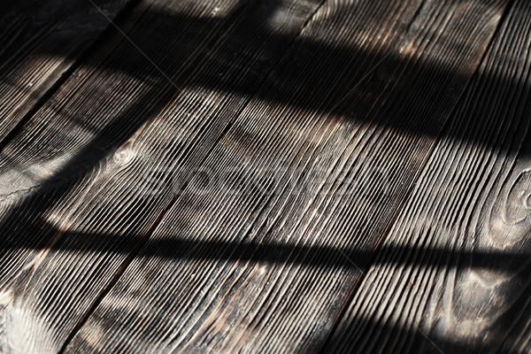 Hardwood floor with shadows Stock photo © Novic