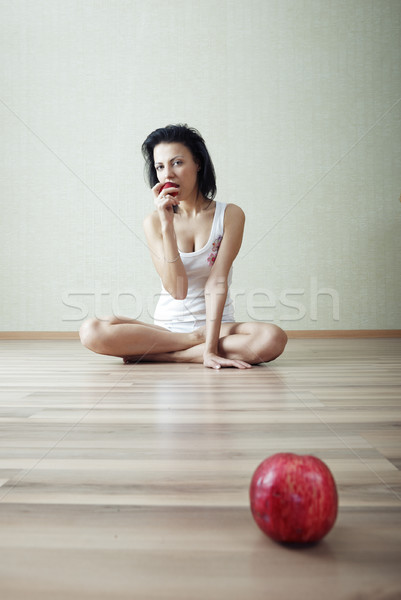Eating apple Stock photo © Novic