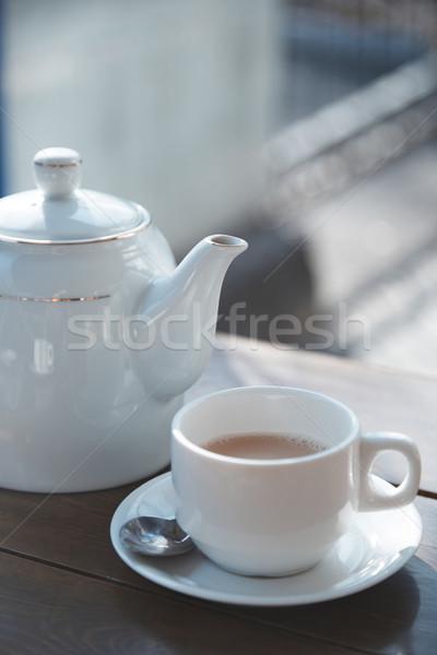 Teacup and teapot Stock photo © Novic