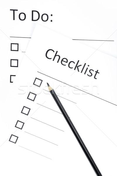 Diariamente planejamento preto lápis planos horizontal Foto stock © Novic