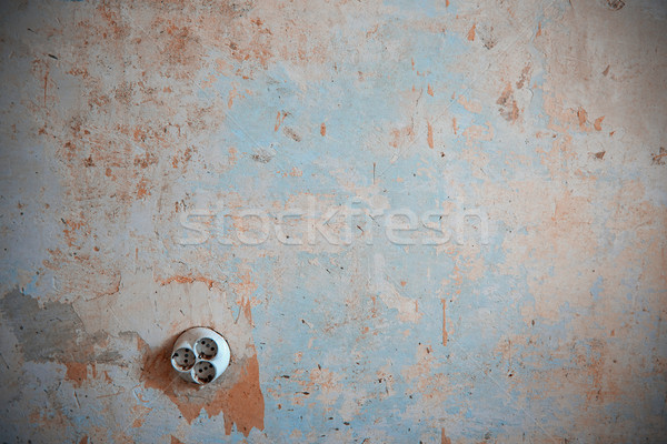 Old electric outlet Stock photo © Novic