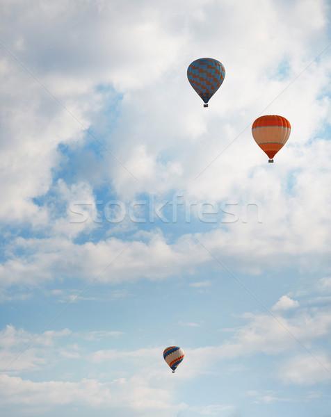 Air balloons in blue sky Stock photo © Novic