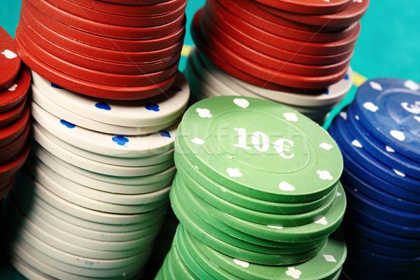 фишки казино фото таблице казино Сток-фото © Novic