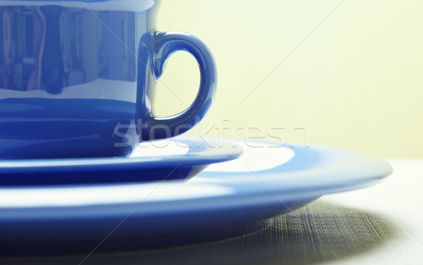 Blue teacup and plate Stock photo © Novic
