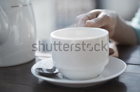 Stok fotoğraf: çay · içme · kadın · el · çay · fincanı