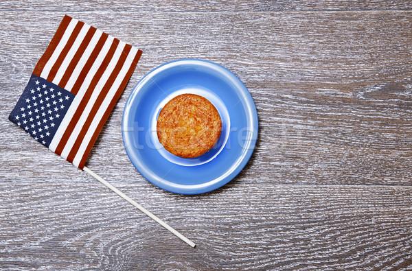US flag and festive cake Stock photo © Novic