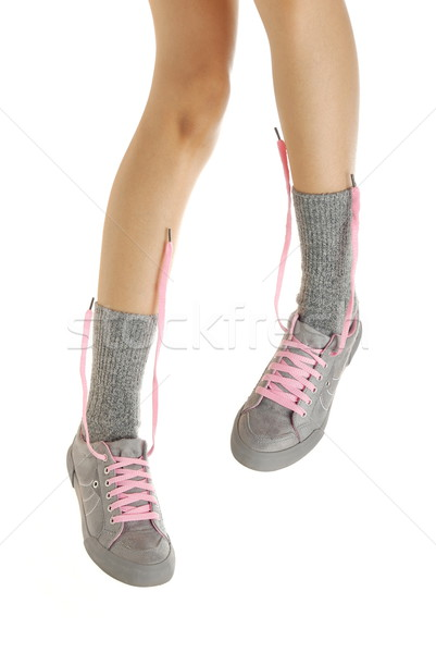 Standing legs in sport shoes Stock photo © Novic