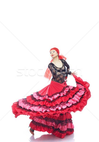 Flamenco dançarina senhora traje dança mulher Foto stock © Novic