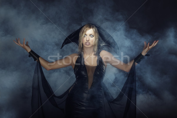 Witch in the smoke Stock photo © Novic