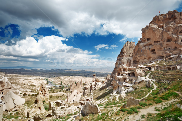 Ancient stony houses in Cappadocia Stock photo © Novic