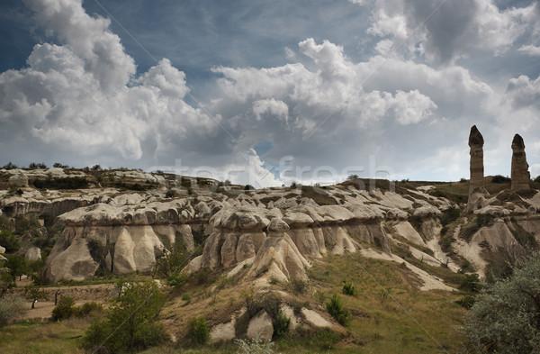 Rock Turkije horizontaal foto landschap reizen Stockfoto © Novic